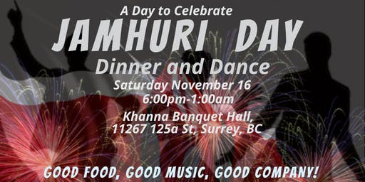 Jamhuri Day Dinner and Dance