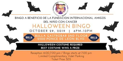 Halloween Bingo benefitting Fundacion Internacional Amigos del Niño con Cancer
