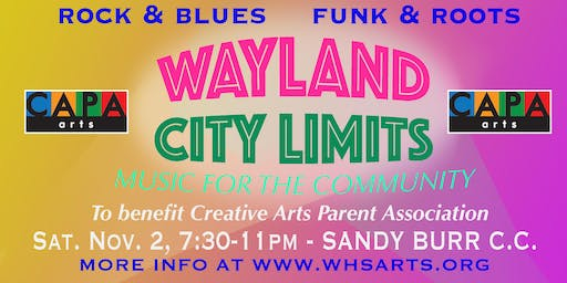 CAPA Fall Fundraiser - Concert with a Cause Featuring Wayland City Limits
