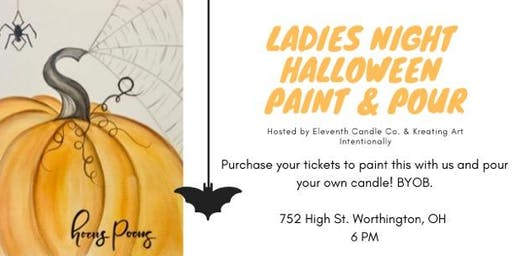 Ladies Halloween Paint and Pour Night