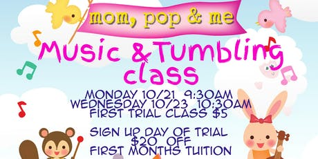 Trial class Mom, Pop, and Me class tickets