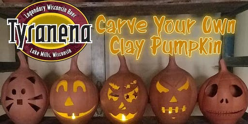 Carve Your Own Clay Pumpkin