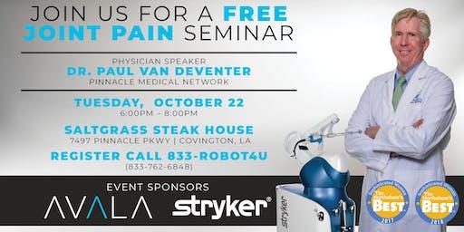Free Joint Seminar - Paul van Deventer, MD