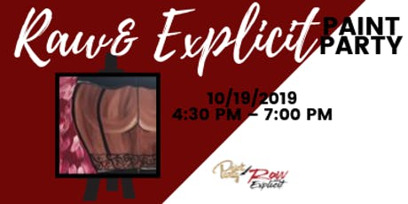 """Raw & Explicit"" Sweetest Day Paint Party tickets"