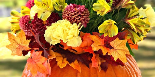 Autumn Floral Workshop - Pumpkin Arrangement