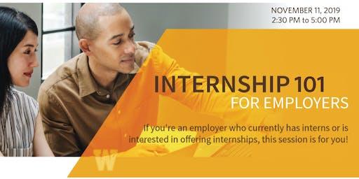 Internship 101 for Employers | November 11, 2019