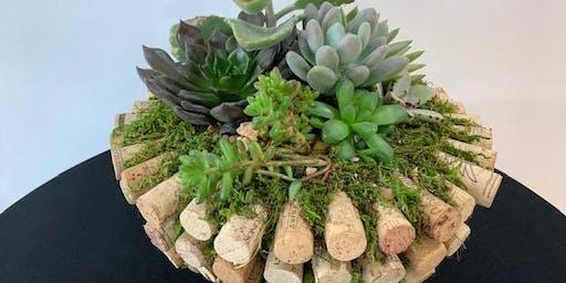 Workshop: Wine, Corks, and Succulents