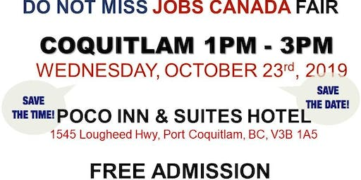 Free: Coquitlam Job Fair - October 23rd, 2019
