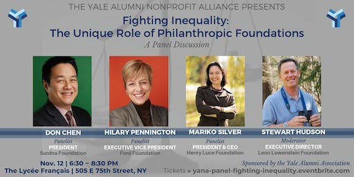 YANA Panel | Fighting Inequality: The Unique Role of Philanthropic Foundations