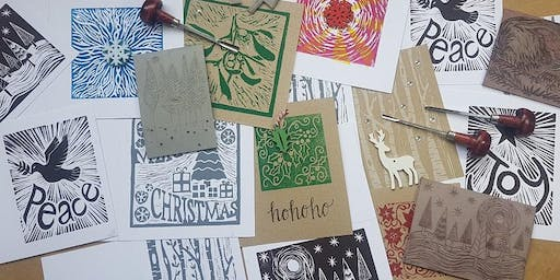 Create Your Own Lino Print Christmas Cards