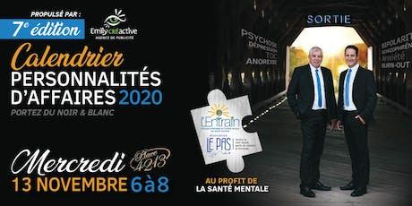 Lancement Calendrier personnalités d'affaires 2020 tickets