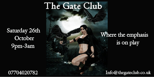 The Gate Club does Halloween- 26th October 2019