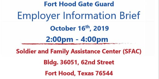 Fort Hood Security Guard Employer Showcase