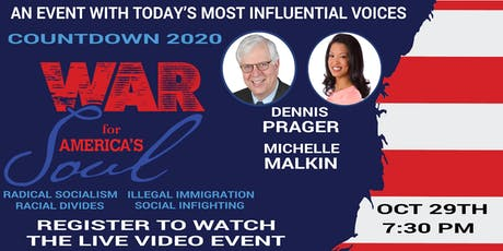 Countdown To 2020 - War For America's Soul Live Video Streaming Event tickets