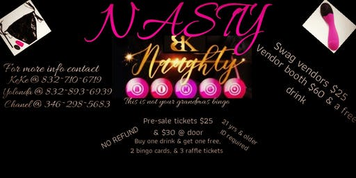 Naughty By Keke Presents Nasty Naughty Bingo