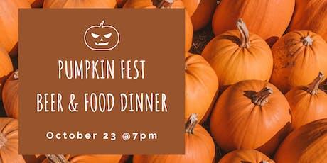 Pumpkin Fest Beer & Food Dinner tickets