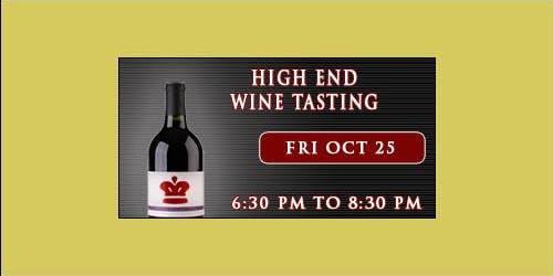 High End Wine Tasting