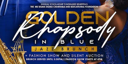 A Golden Rhapsody in Blue Jazz Brunch & Fashion Show Scholarship Fundraiser