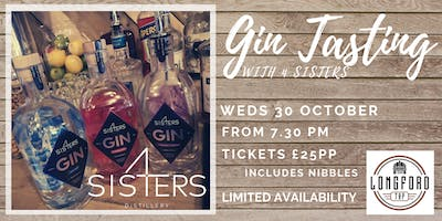 Gin Tasting Evening with 4 Sisters Distillery