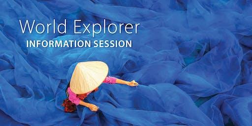 World Explorer Information Session - Fredericton