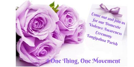 Tangipahoa Domestic Violence Awareness Ceremony