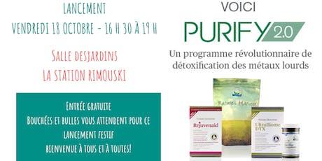 Lancement de Purify 2.0 billets