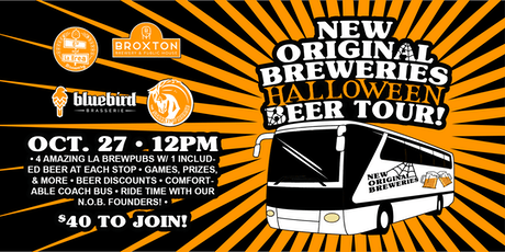 New Original Breweries Halloween Beer Tour! tickets