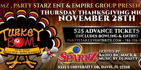 "99 JAMZ "" TURKEY BOWL"" BOWLING PARTY THANKSGIVING NIGHT @ SPAREZ 11/28 tickets"