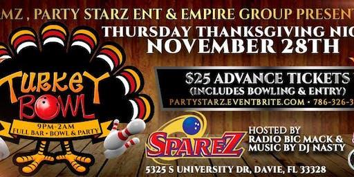 "99 JAMZ "" TURKEY BOWL"" BOWLING PARTY THANKSGIVING NIGHT @ SPAREZ 11/28"