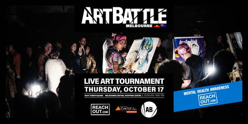 Art Battle for Reach Out at Shot Tower Square!