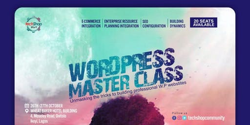 WORDPRESS MASTERCLASS,WEBSITE PROFESSIONAL TRAINING