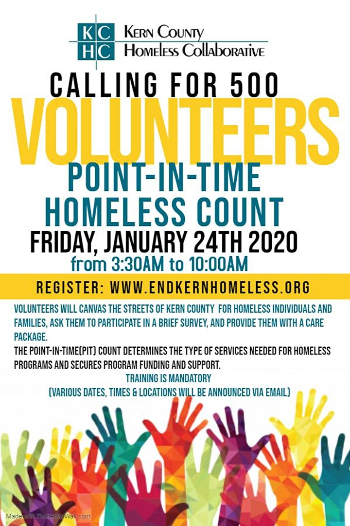 2020 Kern County Point-In-Time Homeless Count image