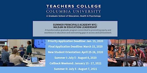 Summer Principals Academy Virtual Information Session