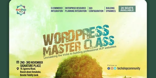 WORDPRESS MASTERCLASS MAINLAND SESSION