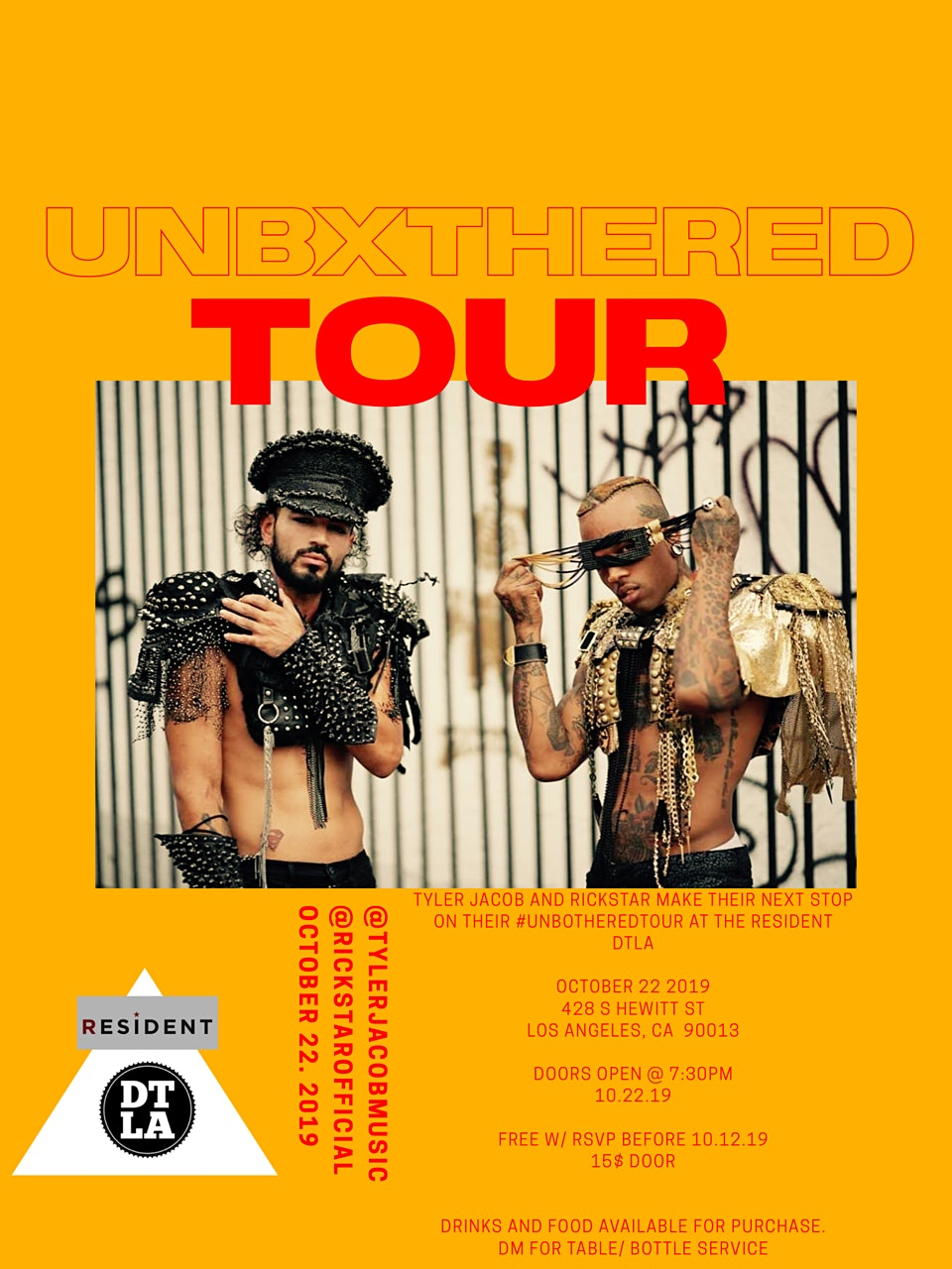 Unbxthered Tour: Rickstar and Tyler Jacob Live