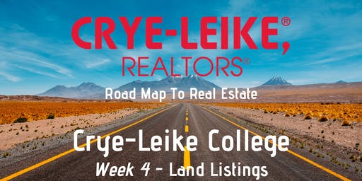 Road Map To Real Estate -  Week 4 - Land Listings