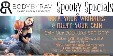 Trick Your Wrinkles, Treat Your Skin, Join Our BOO-tiful SPA DAY!  tickets