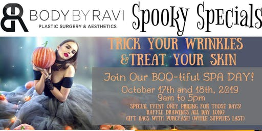 Trick Your Wrinkles, Treat Your Skin, Join Our BOO-tiful SPA DAY!