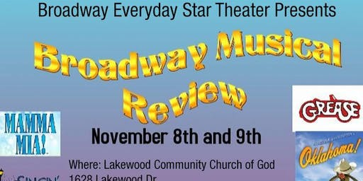 "Broadway Everyday Star  Theater presents ""Broadway Musical Review"""
