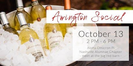 Arrington Social with the Nashville Area AOII Alumnae Chapter tickets