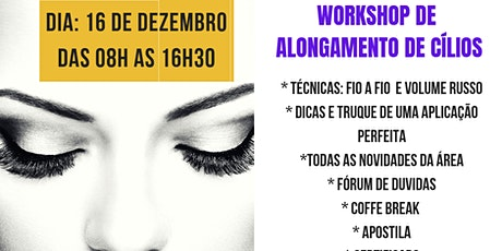 WorkShop de Alongamento de Cílios ingressos