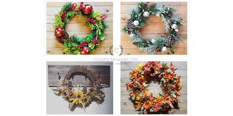 Fall & Winter Holiday Wreath Workshop! tickets