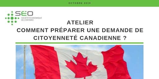Comment préparer une demande de citoyenneté canadienne ?