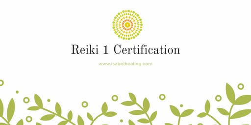 Reiki 1 Certification