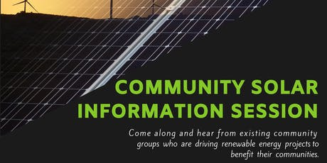 Community Solar Information Session - Glenelg Shire tickets