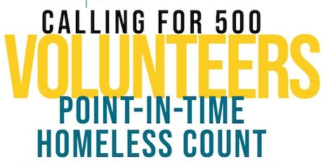 2020 Kern County Point-In-Time Homeless Count tickets