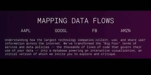 Mapping Data:  How the largest tech firms use your data