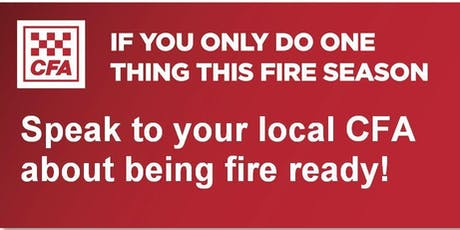 Belgrave Heights & South CFA - Street Corner Fire Information Session with Free BBQ tickets