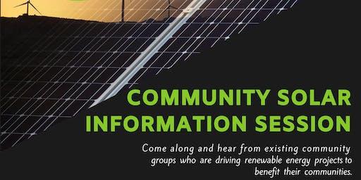 Community Solar Information Session - Warrnambool