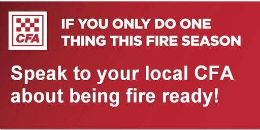 Belgrave Heights & South CFA - Street Corner Fire Information Session with Free BBQ